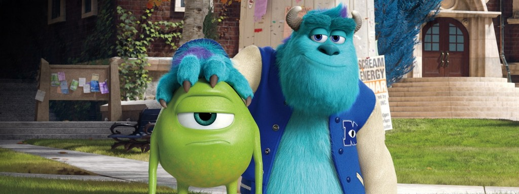 "Mike, voiced by Billy Crystal, and Sully, voiced by John Goodman, in ""Monsters University"""