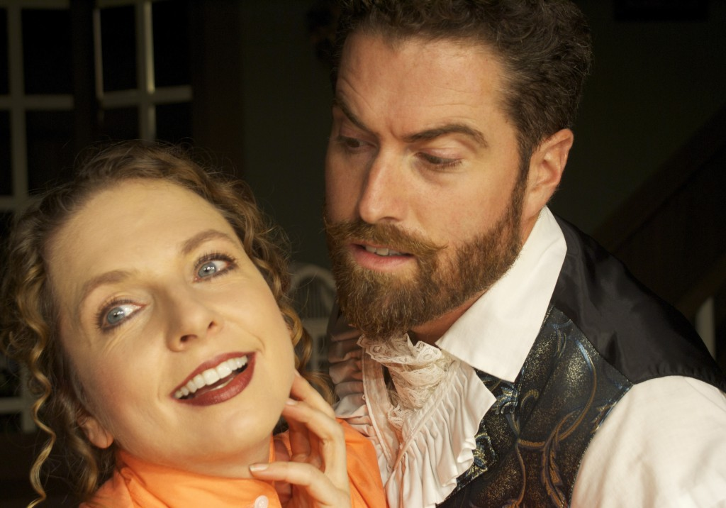 "Jennifer Porter and Brian Chamberlain in ""The Underpants."""