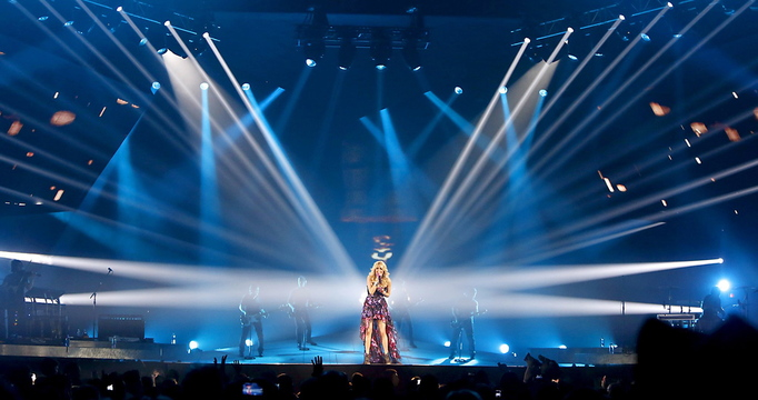 In this April 9 file photo, Carrie Underwood perfroms at the Cumberland County Civic Center in Portland. With the departure of the Portland Pirates, the civic center is looking to bring in more concerts and other types of events.