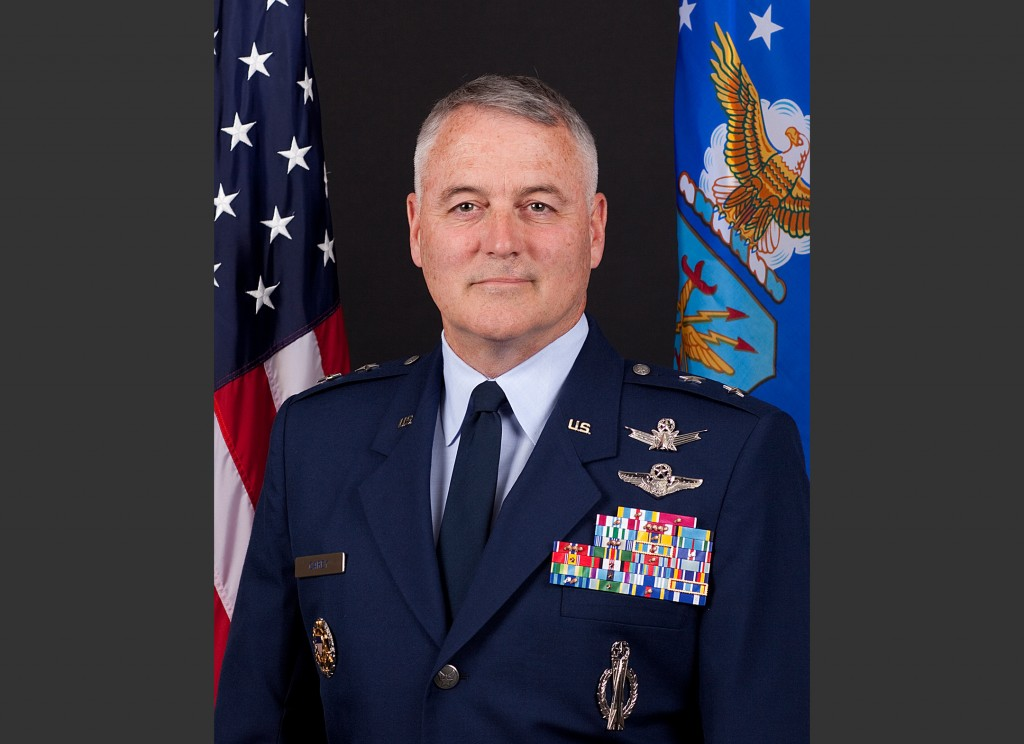 This undated handout photo provided by the U.S. Air Force shows Maj. Gen. Michael J. Carey. The Air Force is firing Carey, the two-star general in charge of all of its nuclear missiles, in response to an investigation into alleged personal misbehavior, officials told The Associated Press on Friday, Oct. 11, 2013. Carey is being removed from command of the 20th Air Force, which is responsible for three wings of intercontinental ballistic missiles ó a total of 450 missiles at three bases across the country, the officials said. (AP Photo/U.S. Air Force)