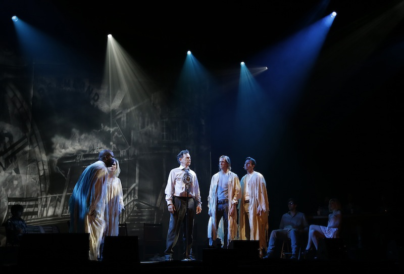 Bruce Greenwood, center, as Joe McCandless, performs Tuesday during a dress rehearsal of