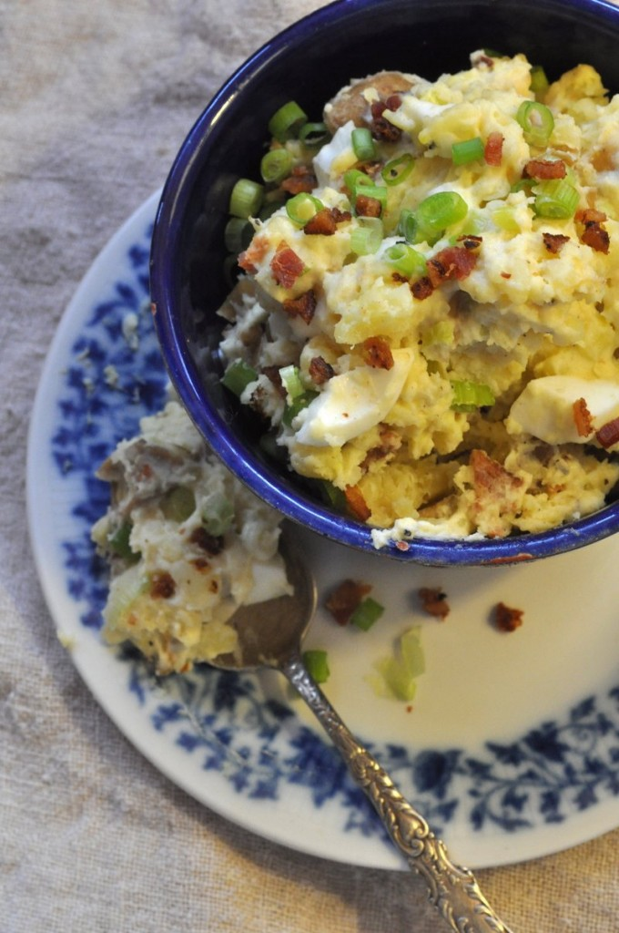A bacon-potato salad goes great with football, too.