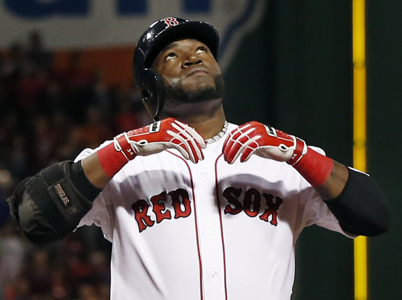David Ortiz led a balanced, potent Boston Red Sox offense this year, hitting .309 with 30 homers and 103 RBI.