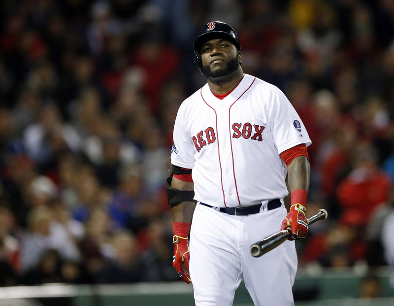 There were numerous contemplative, what-can-I-do-to-get-a-hit looks Saturday night for the Boston Red Sox. And no wonder. David Ortiz and his teammates struck out a total of 17 times and managed one hit in a loss to Detroit.