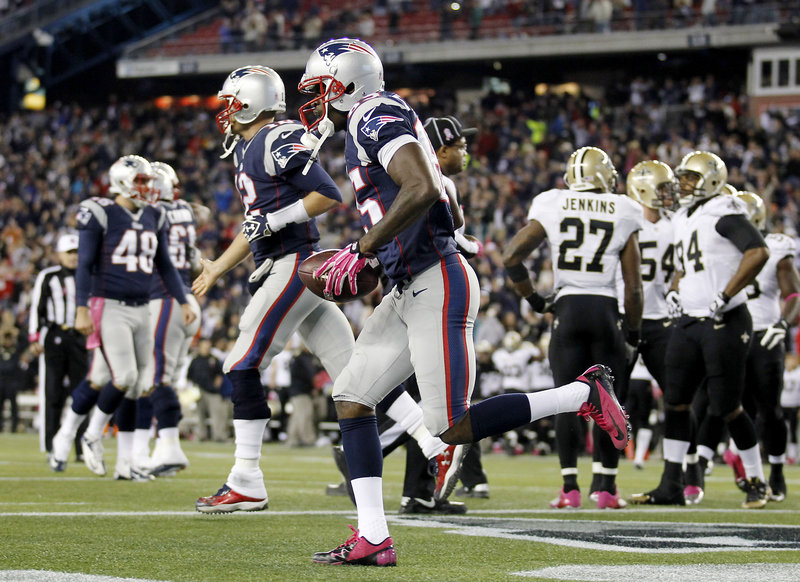 Kenbrell Thompkins finished with only three receptions Sunday, but when it came time to make the most important play of the game, he was up to the challenge, helping the Patriots hand New Orleans its first loss of the season despite blowing a 10-point halftime lead.