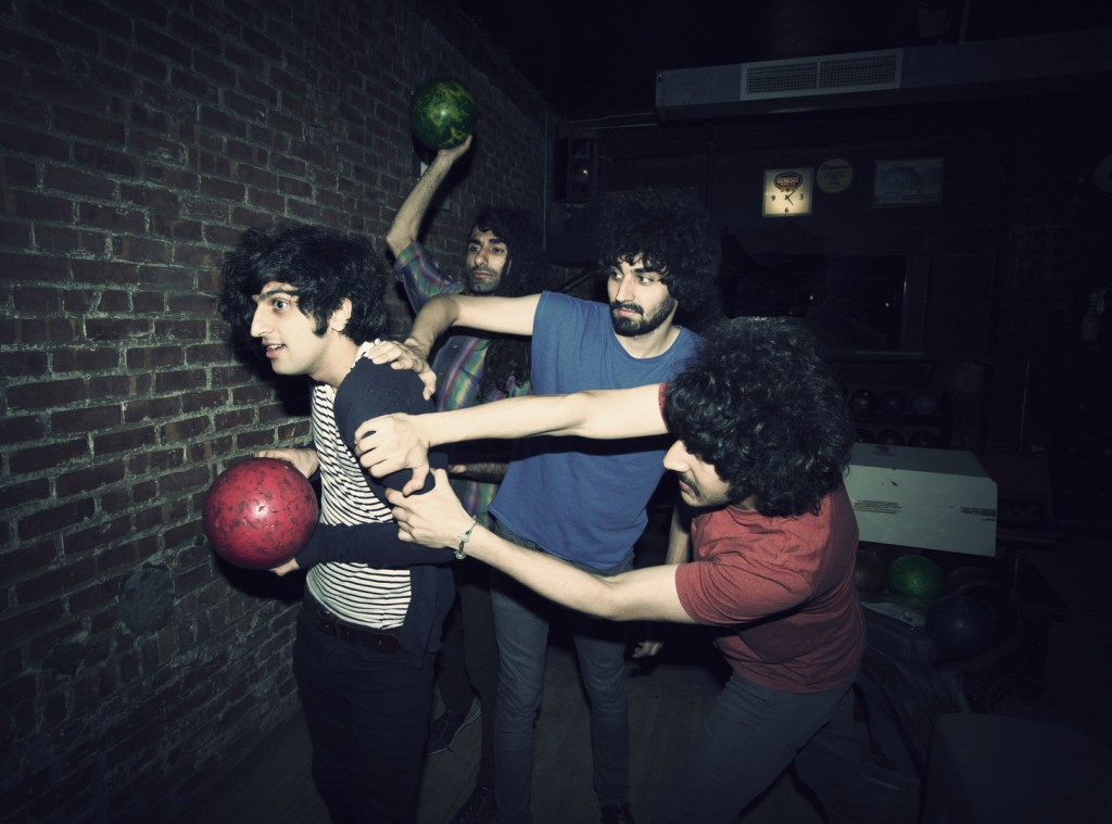 "This 2012 photo shows Yellow Dogs band members, from left, Koroush ""Koory"" Mirzaei, Siavash Karampour, Arash Farazmand and Soroush Farazmand at The Gutter in Brooklyn, New York. Victims Soroush and Arash Farazmand were brothers. The third victim was Ali Eskandarian, who also played in the band."