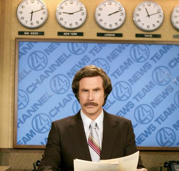 "Will Ferrell, in character as Ron Burgundy, will appear Dec. 4 at Boston's Emerson College, which will change the name of its school of communication for the day and screen the new ""Anchorman"" movie."