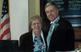 Rep. Mike Michaud and his mother, Jean Michaud, who died Wednesday.