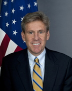 U.S. Ambassador to Libya Christopher Stevens is seen in this undated U.S. State Department photo in Washington. Stevens and three other embassy staff were killed in a rocket attack on their car in Benghazi, a Libyan official said, as they were rushed from a consular building stormed by militants denouncing a U.S.-made film insulting the Prophet Mohammad. REUTERS/US State Department/Handout (UNITED STATES - Tags: POLITICS OBITUARY) THIS IMAGE HAS BEEN SUPPLIED BY A THIRD PARTY. IT IS DISTRIBUTED, EXACTLY AS RECEIVED BY REUTERS, AS A SERVICE TO CLIENTS. FOR EDITORIAL USE ONLY. NOT FOR SALE FOR MARKETING OR ADVERTISING CAMPAIGNS - RTR37VKO