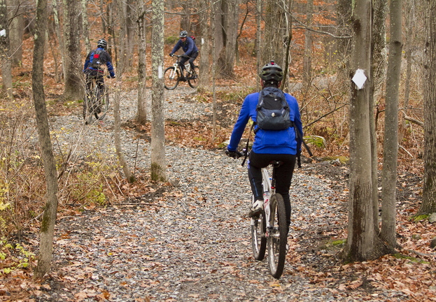 Mountain bikers can now utilize 45 miles of mountain bike trails on land preserved against development in Falmouth. The town has managed to protect more than 1,400 acres so far – representing about 15 percent of the town's total acreage.