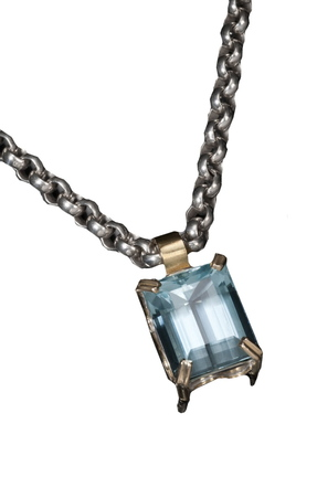 Aquamarine necklace by Tina Dinsmore.