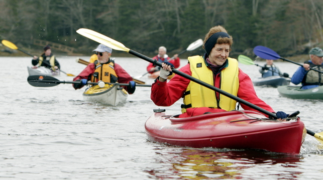 Nancy Marshall of New Hampshire, who owns a cottage on Pemaquid Pond, has long enjoyed the Pemaquid Paddlers' weekly expeditions from May to November. But the group now finds itself without a captain as John Will would rather someone else handle the immense organizing.