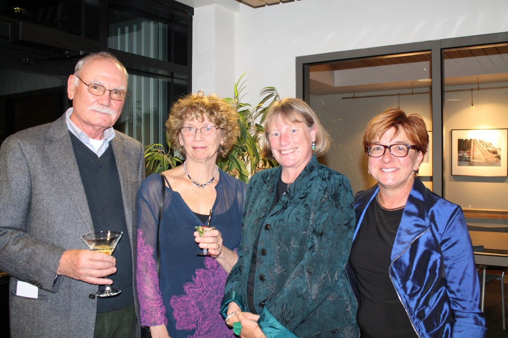 Stephen Busch, an artist from South Bristol, with Sally Loughridge, author and featured artist, also of South Bristol, Susan Clifford of the American Cancer Society and Jac Ouellette, featured artist and event founder