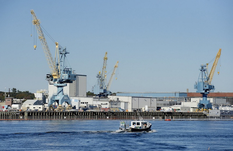 The Portsmouth Naval Shipyard on Tuesday, Oct. 1, 2013.