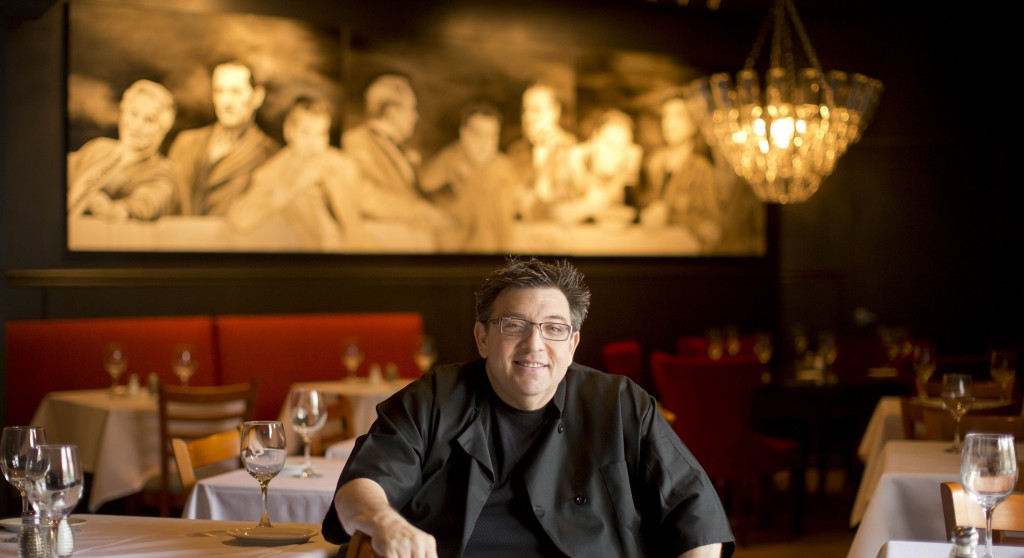 Angelo Lutz poses at his newly expanded restaurant, the Kitchen Consigliere, in Collingswood, N.J.