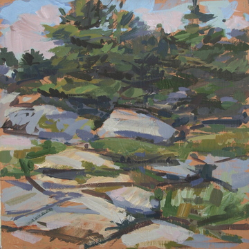 """Rock and Pines"" by Roy Germon."