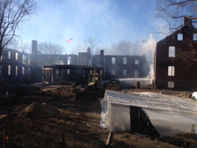Department officials said the fire broke out about 4:25 a.m. at the Inn at Diamond Cove at 18 McKinley Court.