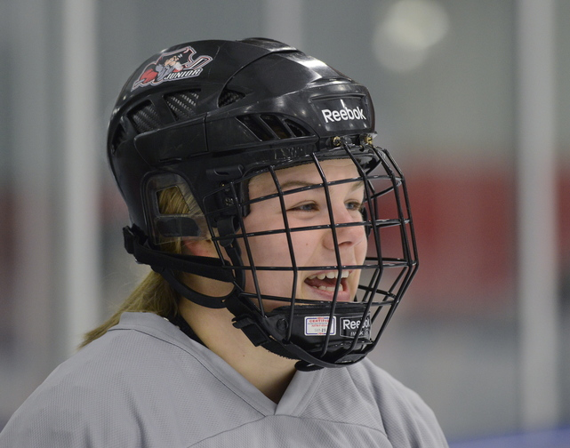 Alyssa Hulst may have a father who played pro hockey in Portland but she's more than making her own way in high school hockey, playing for a contender at Scarborough.