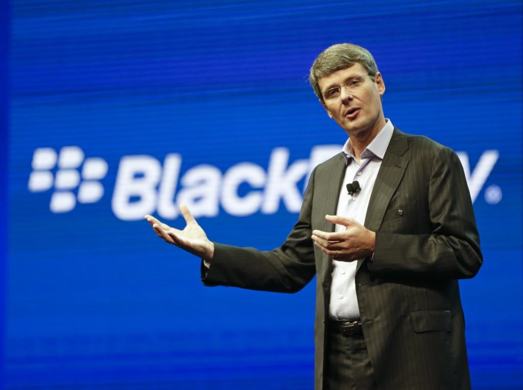 Thorsten Heins is stepping down as president and CEO of BlackBerry.