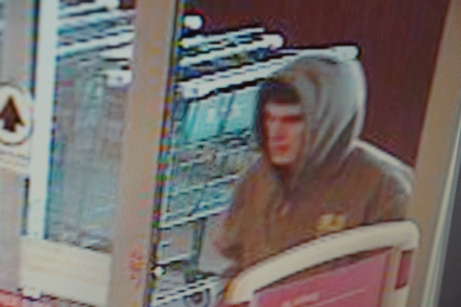 Caught on camera: A security photograph of the suspect from the Wednesday robbery