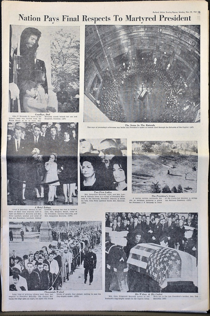 Gordon Chibroski/Staff Photographer A photograph of page 15 of the Nov. 25, 1963 edition of the Portland Evening Express.