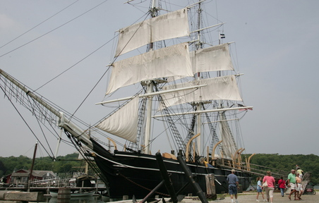 Photo courtesy of Mystic Seaport The whaling ship Charles W. Morgan.