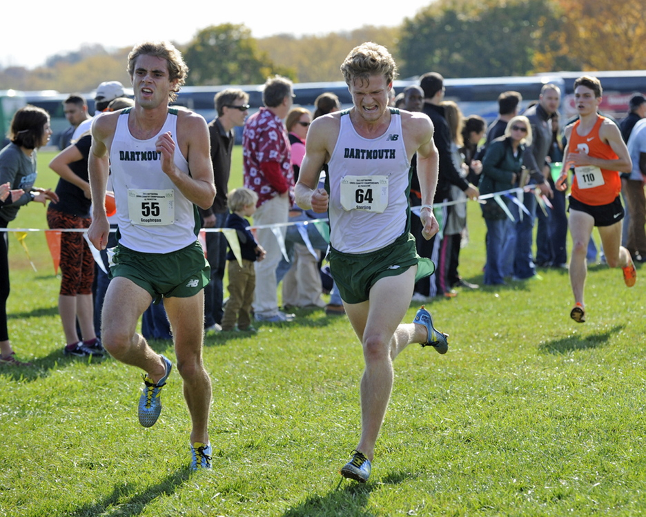 Dartmouth College seniors Will Geoghegan, left, of Brunswick and Henry Sterling of South Freeport have overcome obstacles to help the Big Green earn a berth to Saturday's NCAA Division I cross country championships.