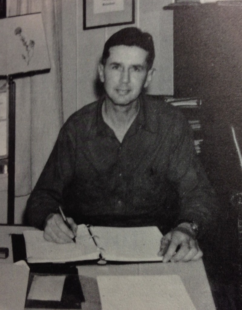 "George B. Richardson is shown in 1960, when he wrote ""The History of Bustin's Island."""