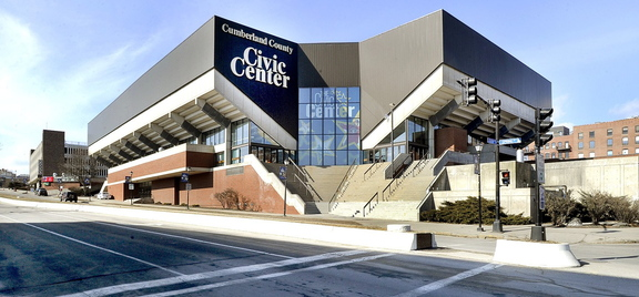 The Cumberland County Civic Center in Portland, shown in February 2012, was the home of the Portland Pirates for 20 seasons until lease negotiations broke down this year.