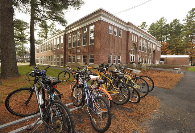 A former elementary school that has been converted into a state of the art facility at Bowdoin College.