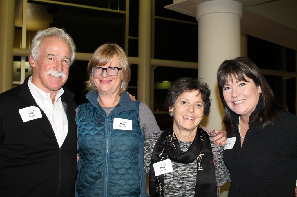 Pete Thaxter and psychologist Mary McCann of Portland with former Maine first lady Mary Herman of Brunswick and Dorothy Foote, president of Wayfinder Schools in Camden.