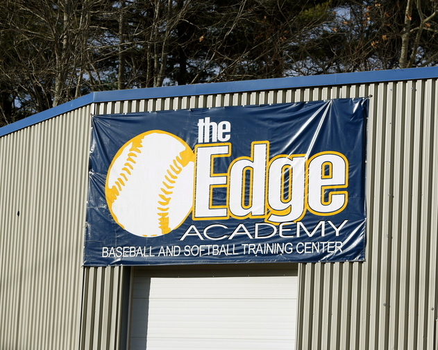 Scarborough baseball coach Ryan Jones works as an instructor at the Edge Academy in Portland.