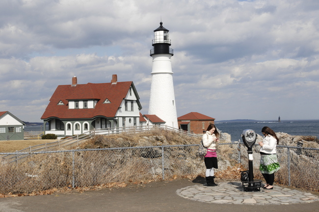 Police say burglars smashed a window at Portland Head Light in Cape Elizabeth and stole a lithograph.