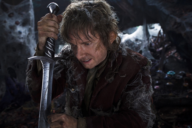 "Martin Freeman as the hobbit Bilbo Baggins in ""The Hobbit: The Desolation of Smaug."""
