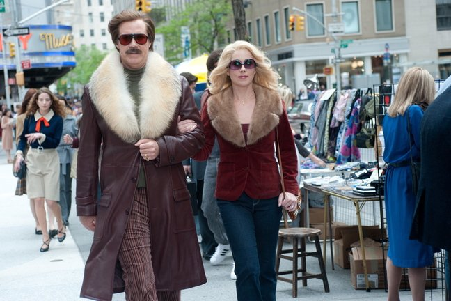 "Will Ferrell and Christina Applegate ""Anchorman 2: The Legend Continues."""