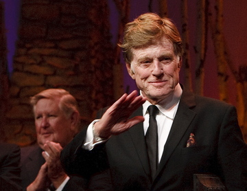 "Robert Redford, who was honored Saturday for his contributions to Utah, said he and those he differs with politically love ""this state and our country and the people."""