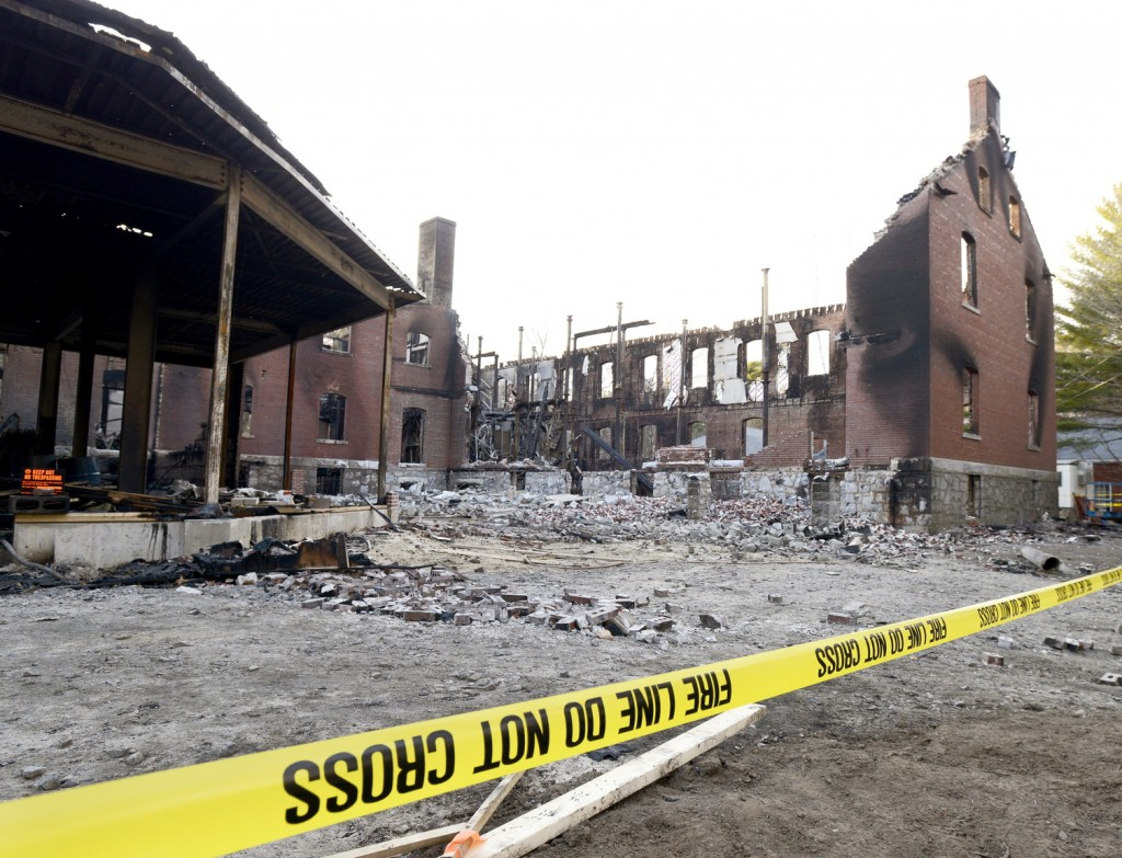 Investigators looked Monday for the cause of the blaze at the Inn at Diamond Cove, which consists of a main building and two wings. About 60 people were interviewed at the Ocean Gateway terminal.