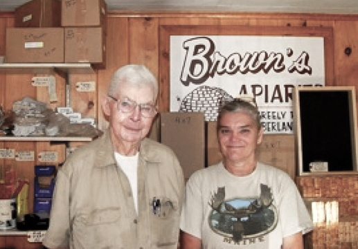 A photograph of Stan Brown with Karen Thurlow-Kimball appears on the Unique Maine Farms website.