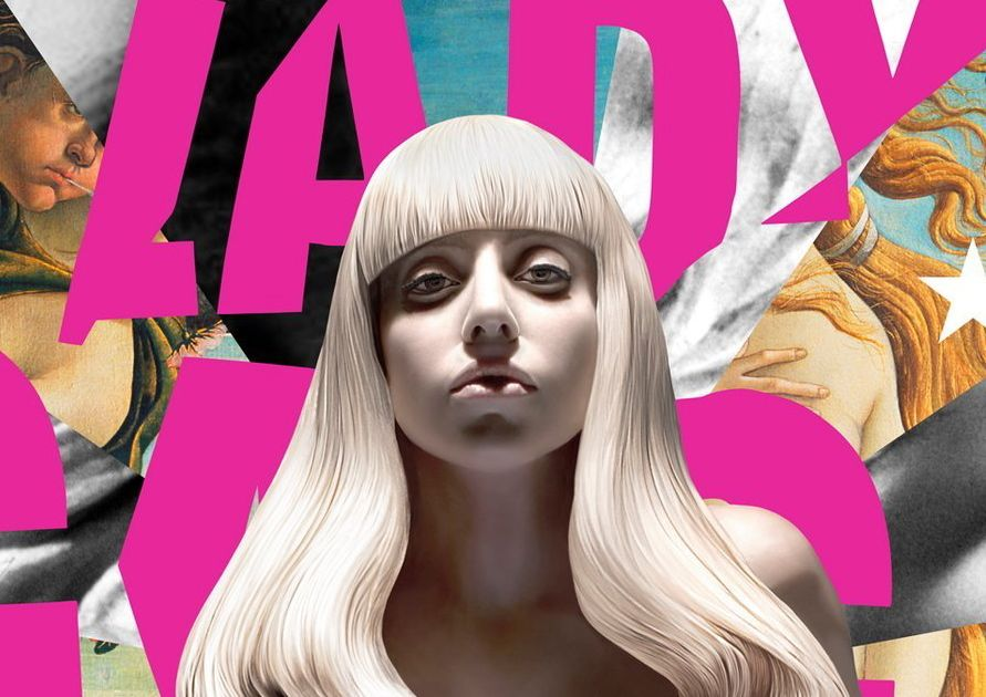 Detail of Lady Gaga's 'Artpop' album cover.