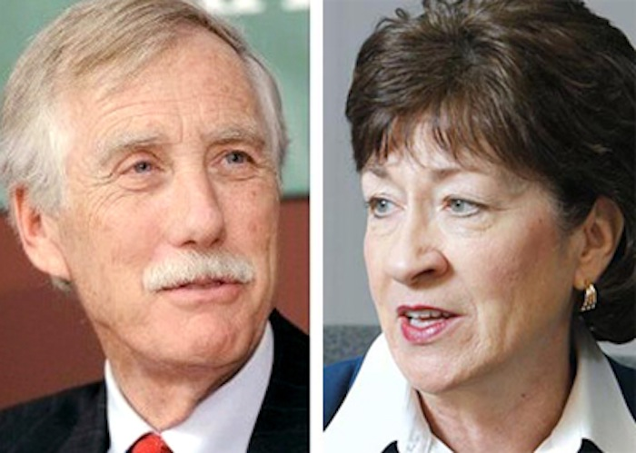 Potential swing votes: independent Sen. Angus King and Republican Sen. Susan Collins.