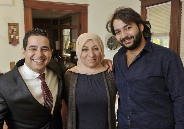 Ali Farid, left, a native of Iraq who assisted the U.S. military, now resides in Westbrook with his mother, Dunya Alobaidi, and his brother, Nizar Farid.