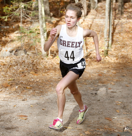 Kirstin Sandreuter of Greely not only recovered from a painful foot injury to win the regional and state meets in Class B, but smashed her personal best in placing fourth in New England.