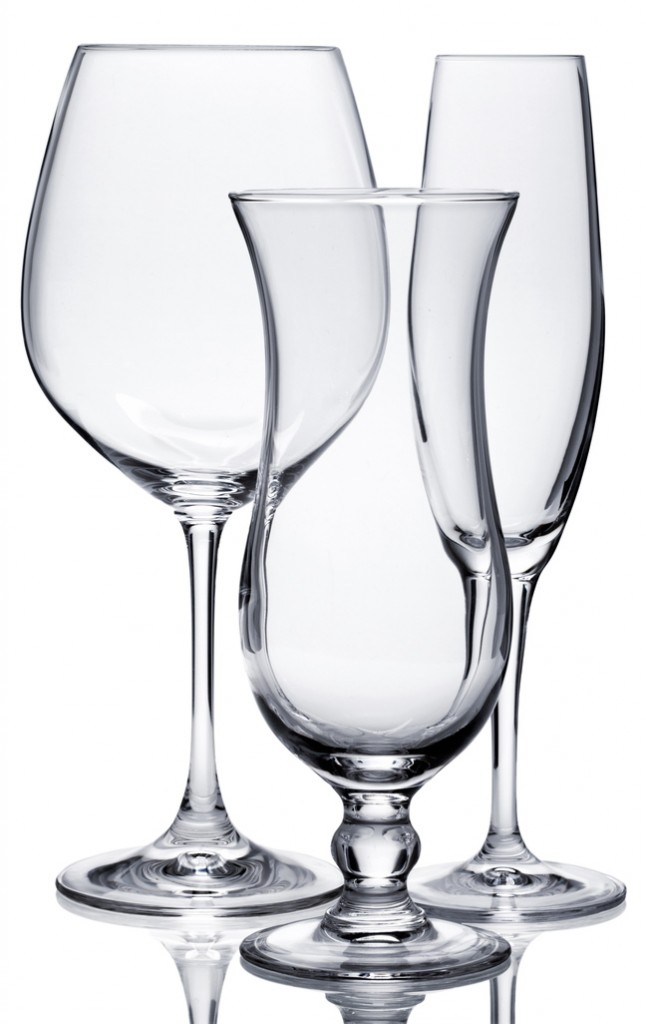Glassware can become cloudy without proper care.