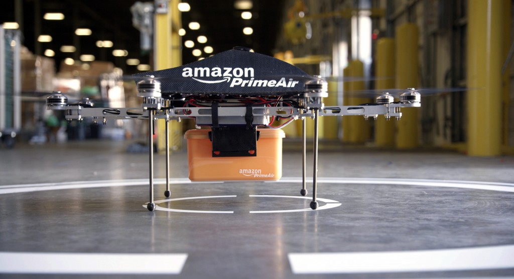 CEO Jeff Bezos says that there's no reason drones can't help get goods to customers in 30 minutes or less.
