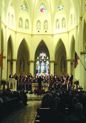 """Christmas at the Cathedral,"" featuring the Choral Arts Society and the Portland Brass Quintet, will be presented at the Cathedral of the Immaculate Conception in Portland on Saturday and Sunday."