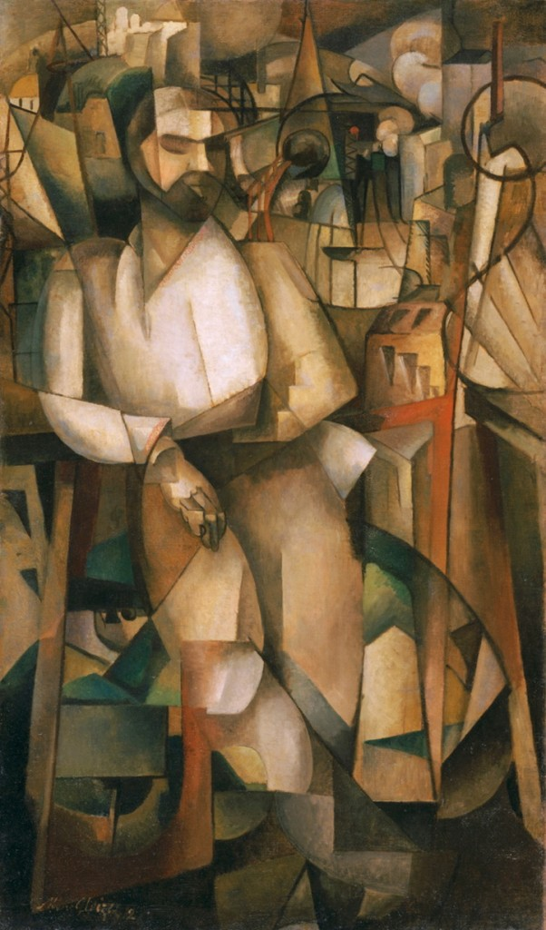 """Man on a Balcony (Portrait of Dr. Morinaud)"" 1912, by Albert Gleizes, who was considered to be a founding member of the Cubist movement."