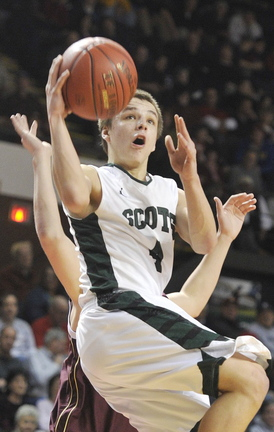 Dustin Cole returns to Bonny Eagle for his senior season. He averaged 28.5 points per game last season for the Scots.