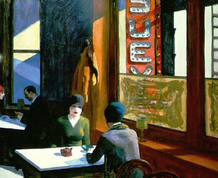 "Many art historians believe the restaurant was the setting for the Edward Hopper painting ""Chop Suey"" (1929), based on the fact that Hopper and his wife summer in Cape Elizabeth from 1927 to '29."
