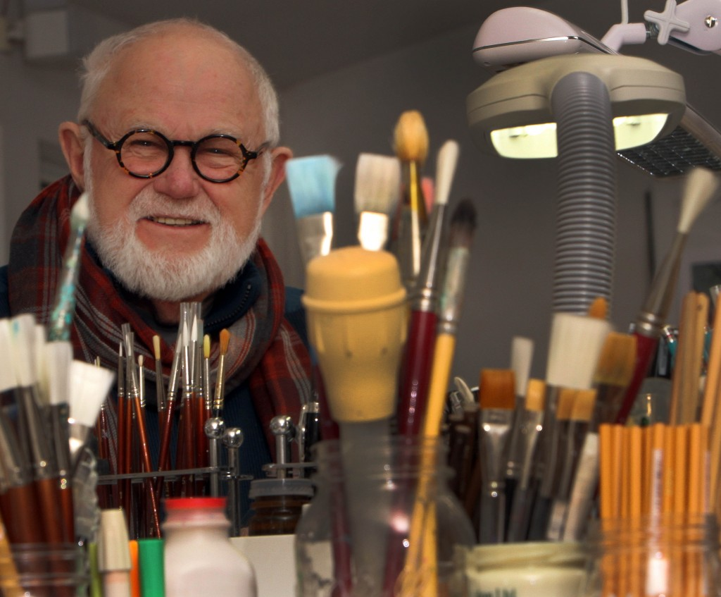 Children's author and illustrator Tomie dePaola poses in his studio in New London, N.H. His children's books have sold more than 15 million copies worldwide.
