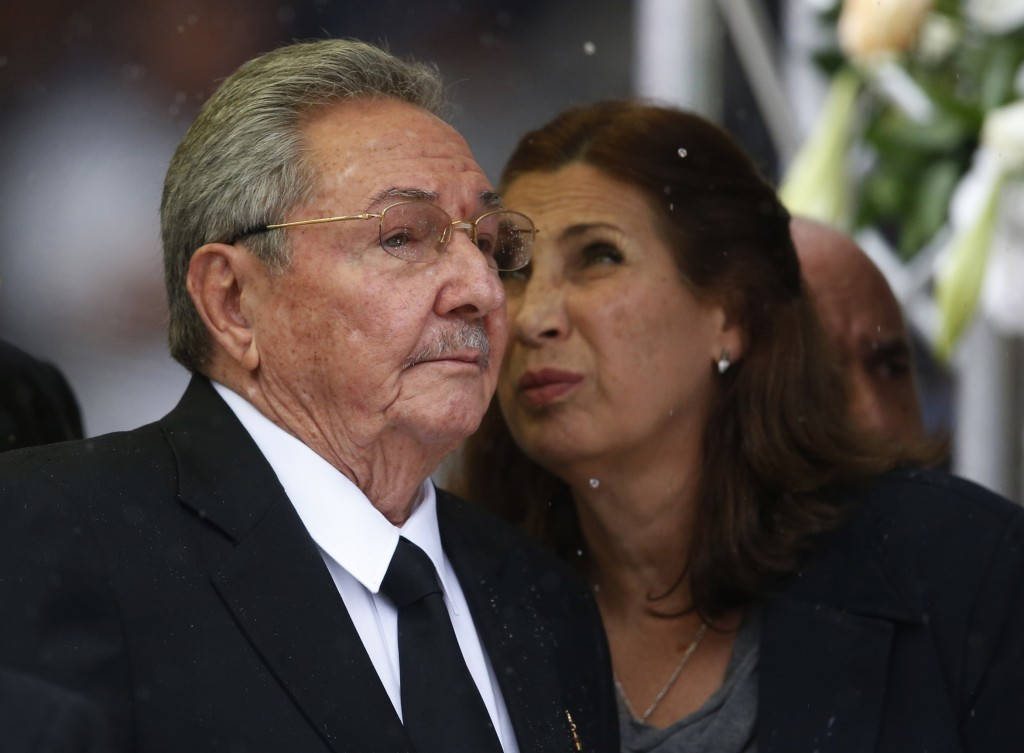 Cuba's President Raul Castro Ruz arrives for the memorial service for former South African president Nelson Mandela at the FNB Stadium in Soweto near Johannesburg, Tuesday.